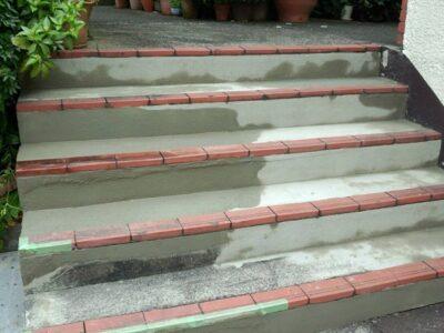 集合住宅 階段部モルタル補修