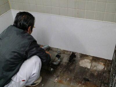 社員食堂 防火パネル貼り 補修工事