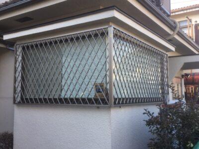 町田市 玄関ドア取付・アルミ面格子取付工事