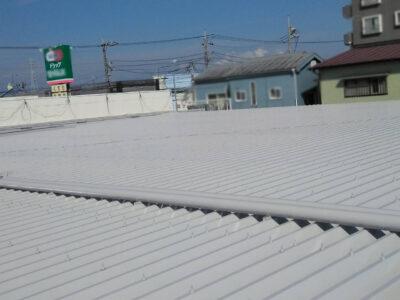 座間市 ドラッグストア屋根補修工事